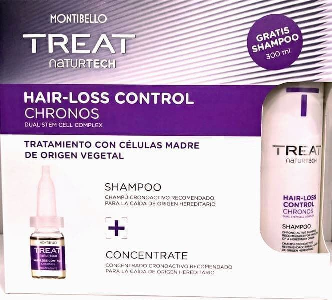 Pack Tratamiento Anti-caída Hereditaria Chrono-Active Treat Hair Loss Control Montibello - Imagen 1